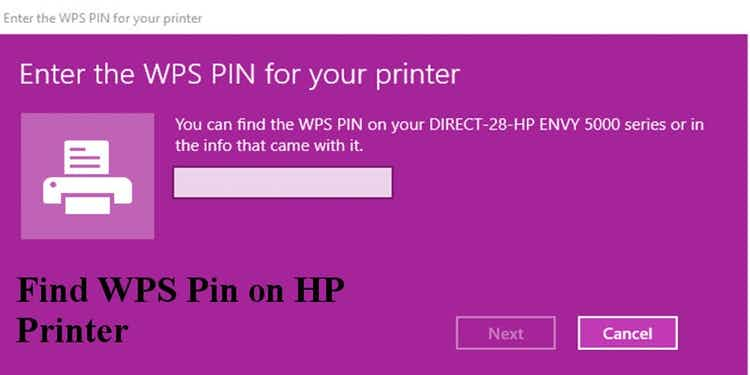 WPS Pin on HP Printer
