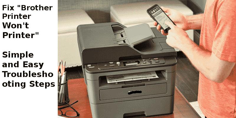Brother printer won't print