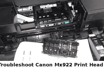 Canon Mx922 Print Head errors