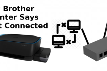 brother printer says not connected