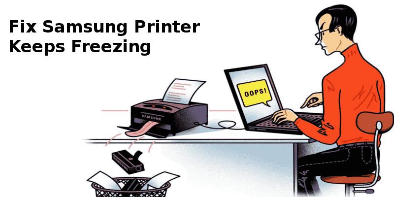 samsung printer freezes