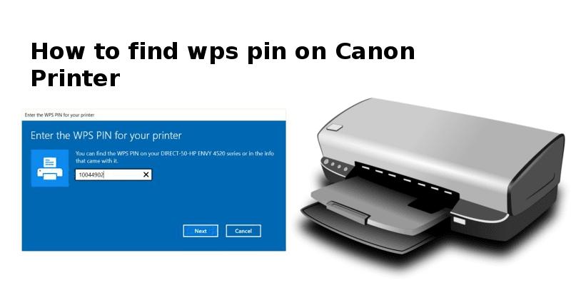 wps pin on canon printer
