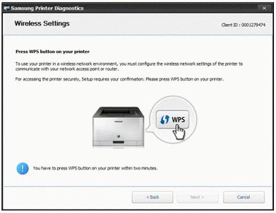 wps pin on samsung printer