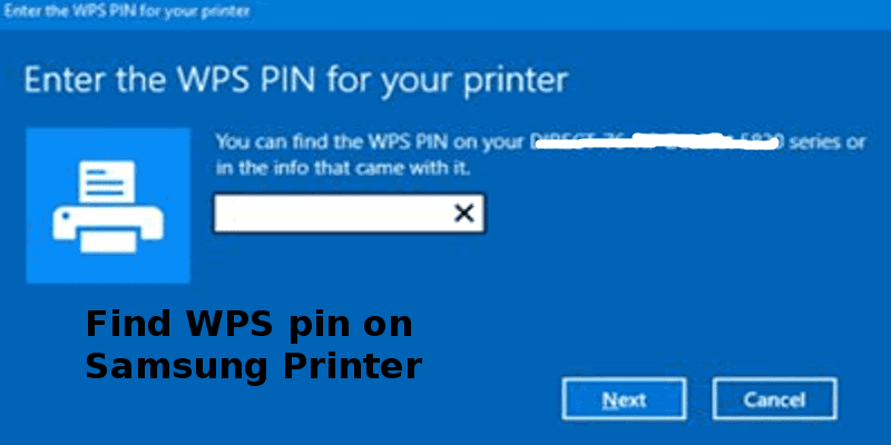 wps pin on samsung printer