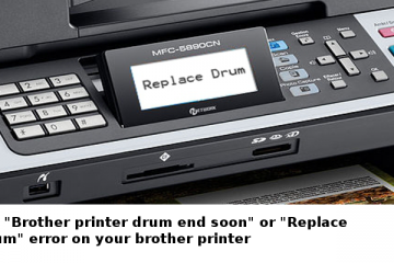 Brother printer drum end soon