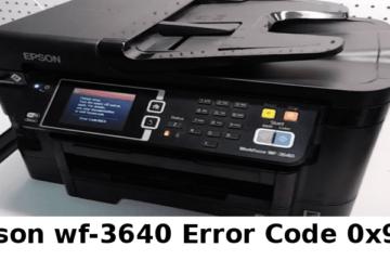 Epson wf-3640 Error Code 0x97