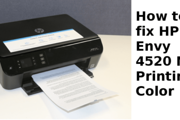HP Envy 4520 Not Printing Color