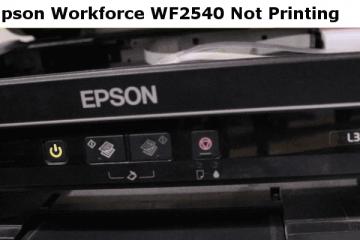 Epson WF2540 Not Printing