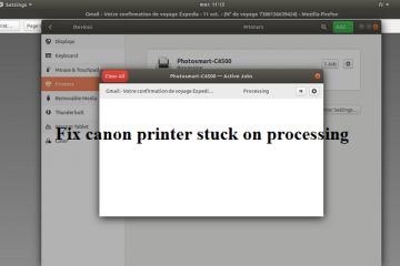 canon printer stuck on processing