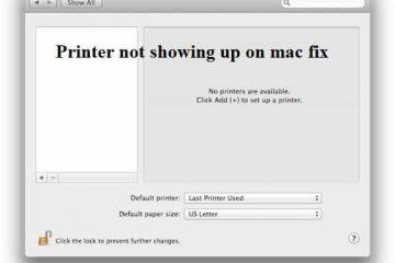 printer not showing up on mac