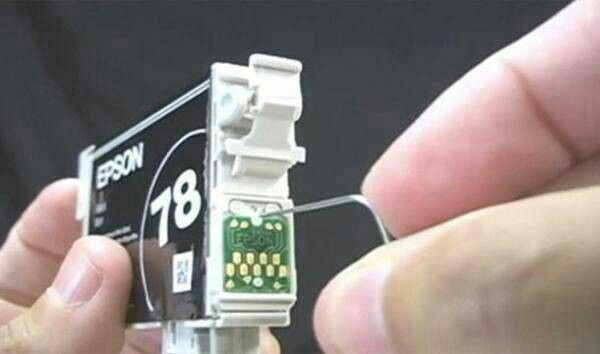 how to reset epson ink cartridge